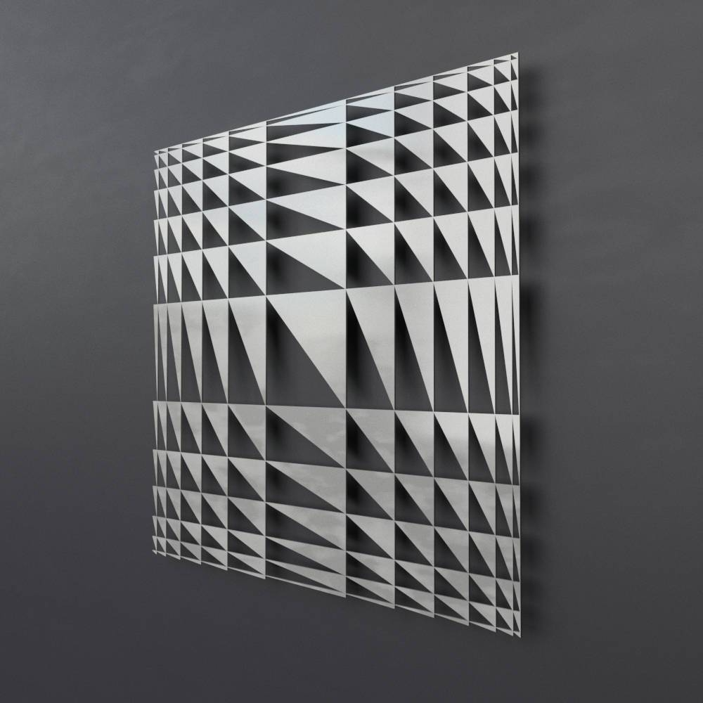 Geometric Metal Wall Sculpture Modern Metal Wall Art Square With Regard To 2017 Geometric Metal Wall Art (Gallery 16 of 20)