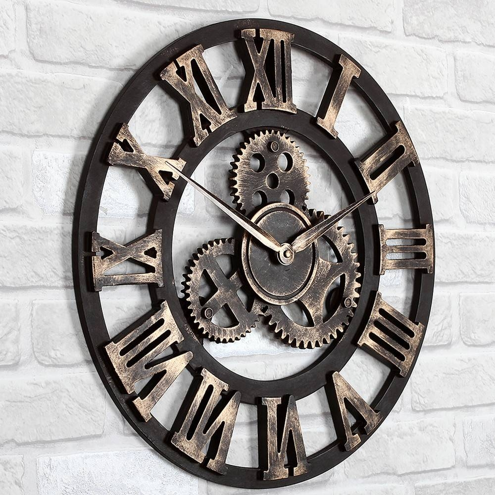 Giant Wall Clock For Most Recently Released Large Metal Wall Art Clocks (View 7 of 20)