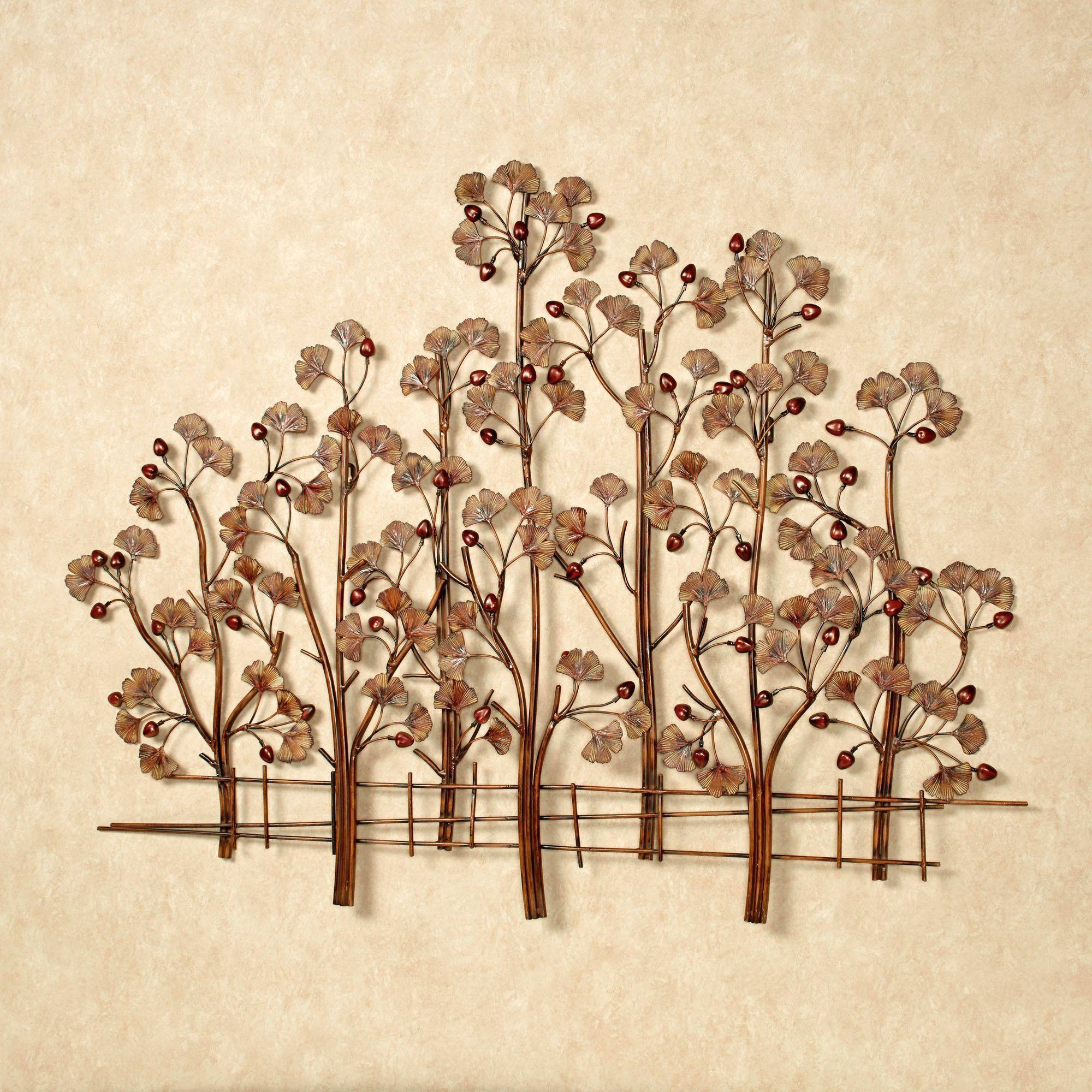 Ginkgo Tree Metal Wall Sculpture With Recent Metal Wall Art Tree (View 8 of 20)