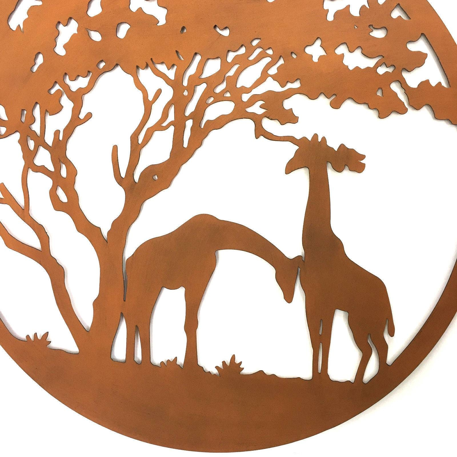 Giraffe Lasercut Metal Wall Art 99Cm Regarding Most Popular Giraffe Metal Wall Art (View 8 of 20)