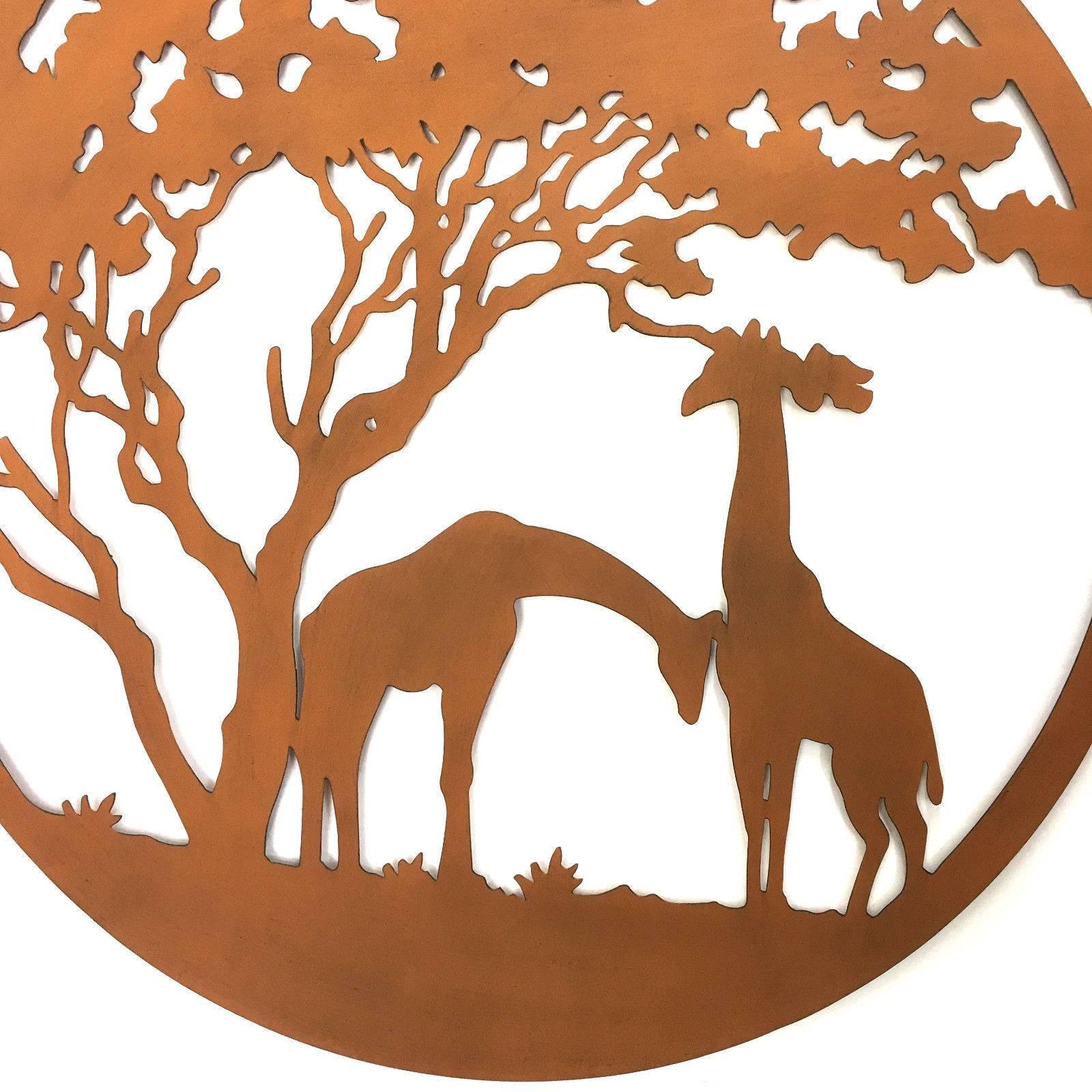 Giraffe Lasercut Metal Wall Art 99Cm Regarding Most Popular Giraffe Metal Wall Art (Gallery 19 of 20)