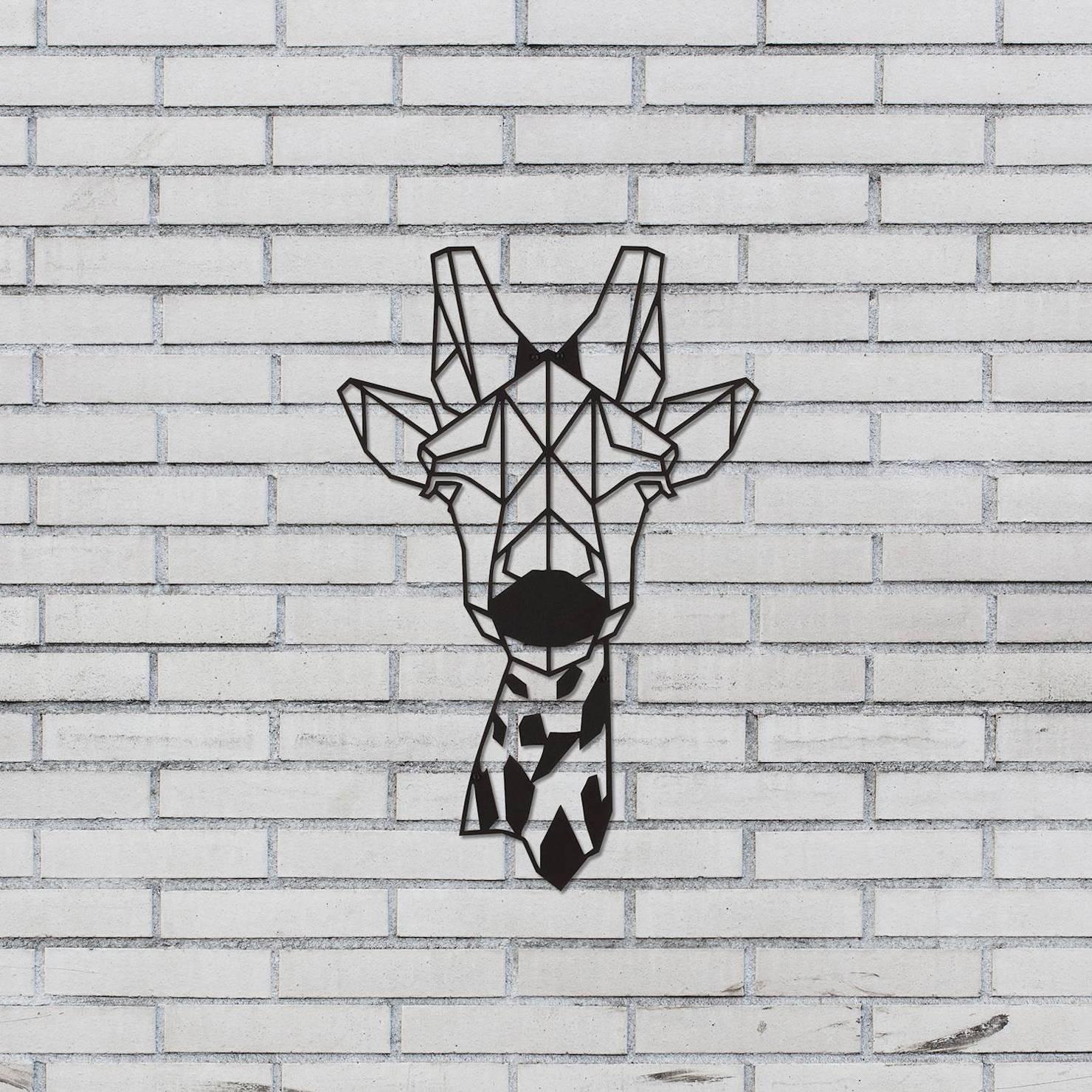 Featured Photo of Giraffe Metal Wall Art