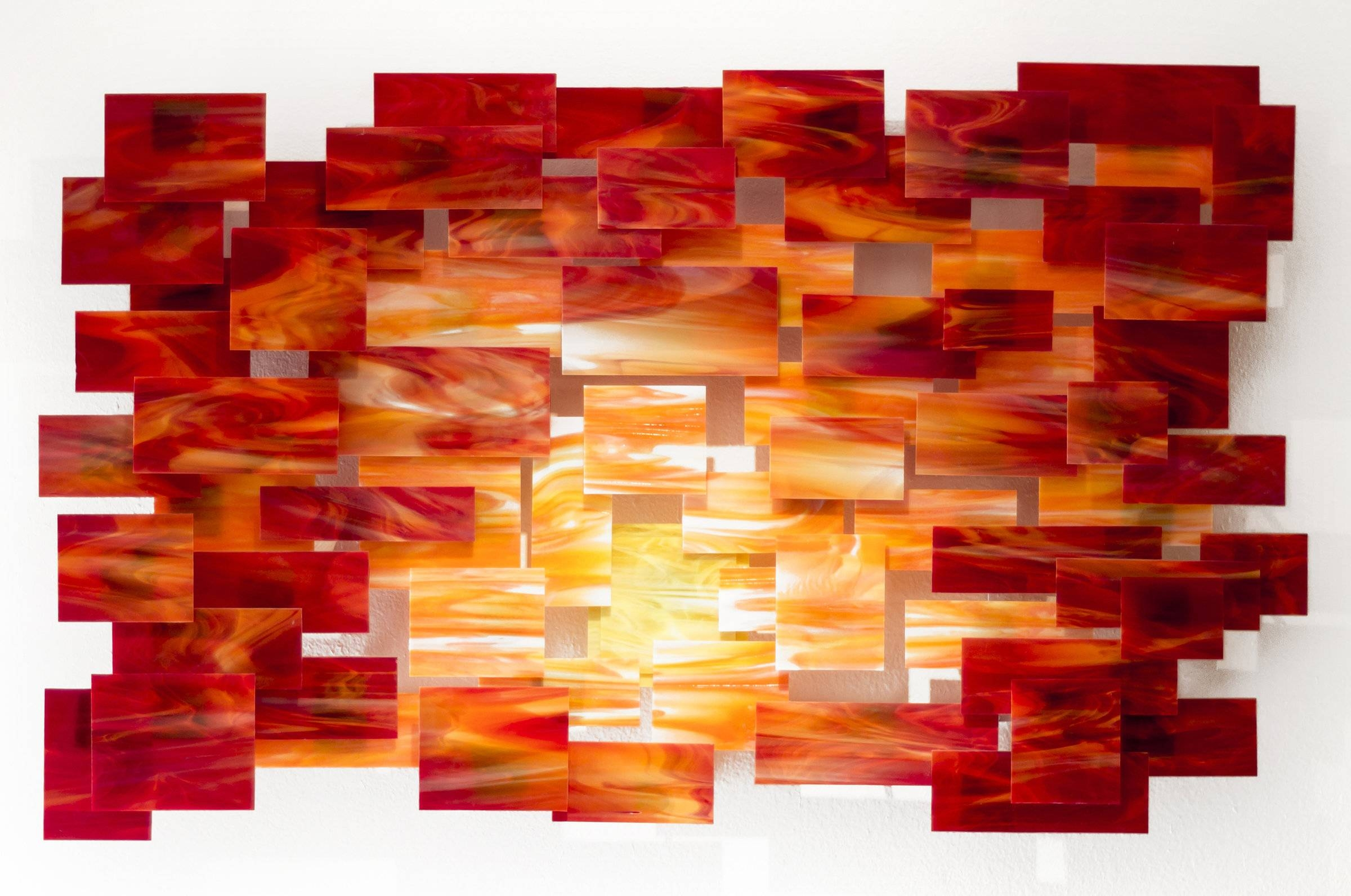 Glass Wall Artnorth American Artists | Artful Home Regarding Recent Woven Metal Wall Art (View 6 of 20)