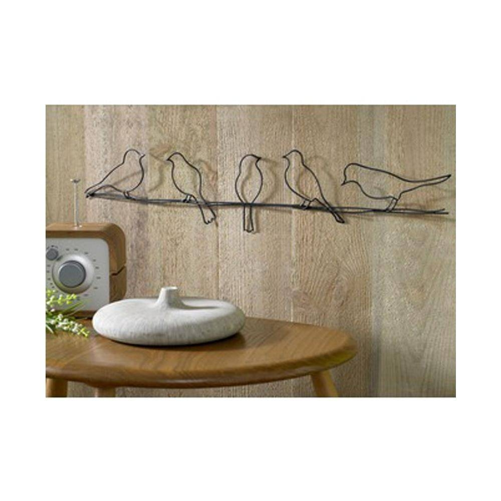 """Graham & Brown 24 In. X 5 In. """"bird On A Wire""""graham And Brown With Regard To Best And Newest Graham And Brown Metal Wall Art (Gallery 1 of 20)"""