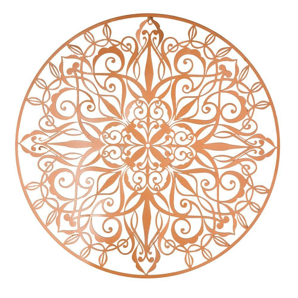 "Graham & Brown 31 In. X 31 In. ""copper Luxe"" Metal Wall Art 104036 Inside Most Up To Date Copper Metal Wall Art (Gallery 18 of 20)"