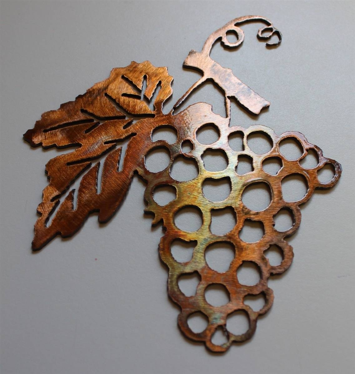 Grape Bushel Copper/bronze Metal Wall Art For Most Recently Released Small Metal Wall Art Decor (Gallery 13 of 20)