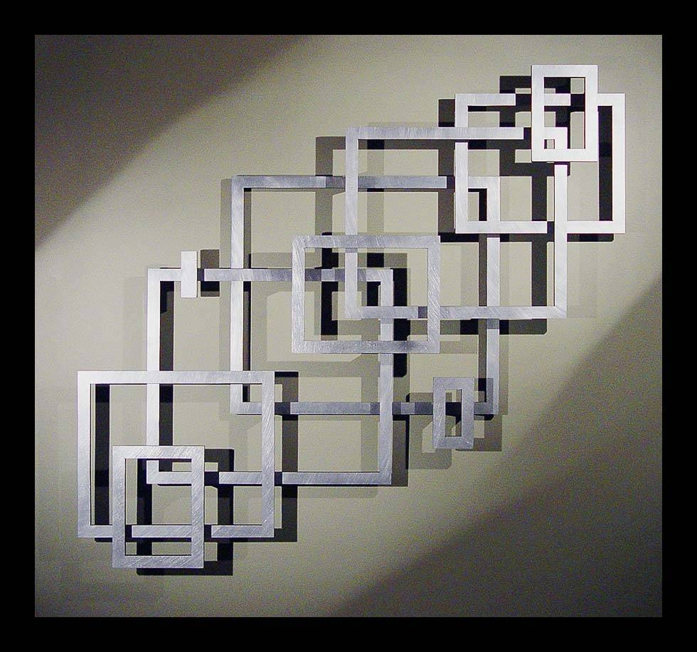Great Layout Inspiration For Geometric Empty Frame Collage 2017 Regarding Most Popular Geometric Metal Wall Art (View 10 of 20)
