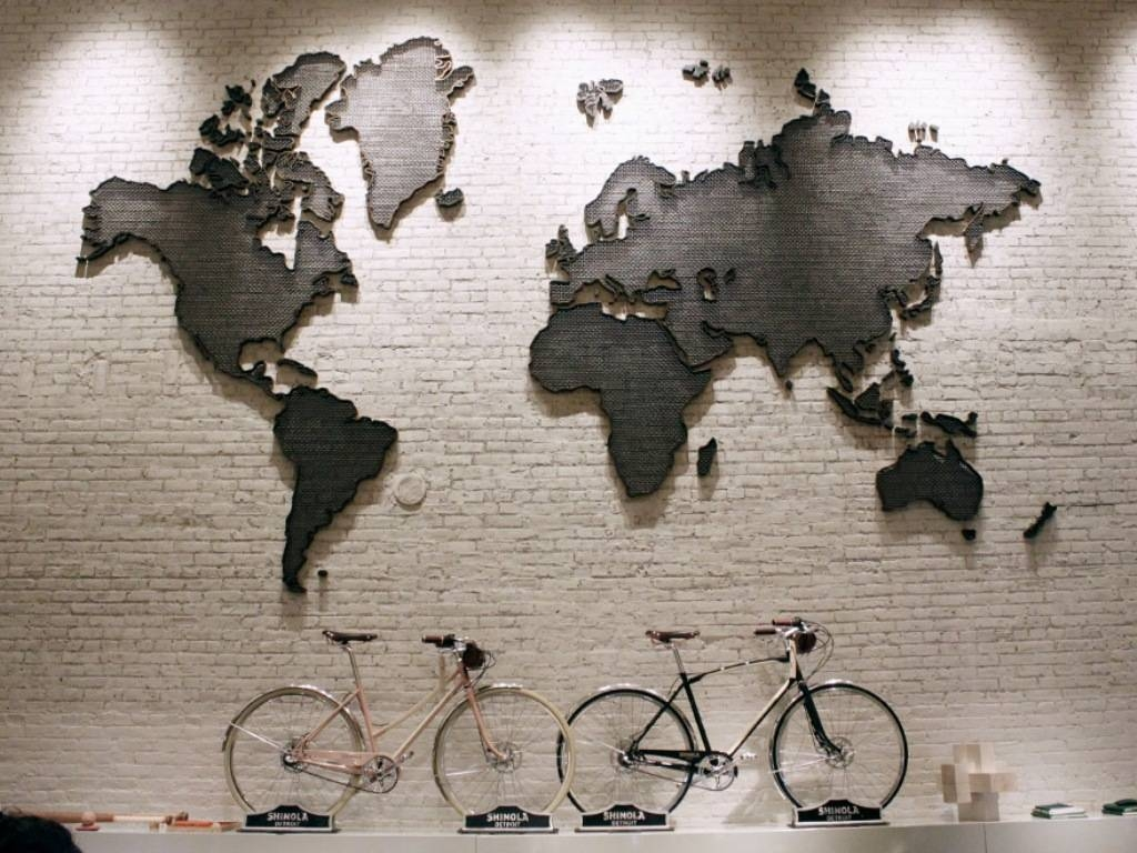 Grey World Map Wall Art — Rs Floral Design : Diy Mural World Map With Regard To Most Recent Worldmap Wall Art (View 7 of 20)