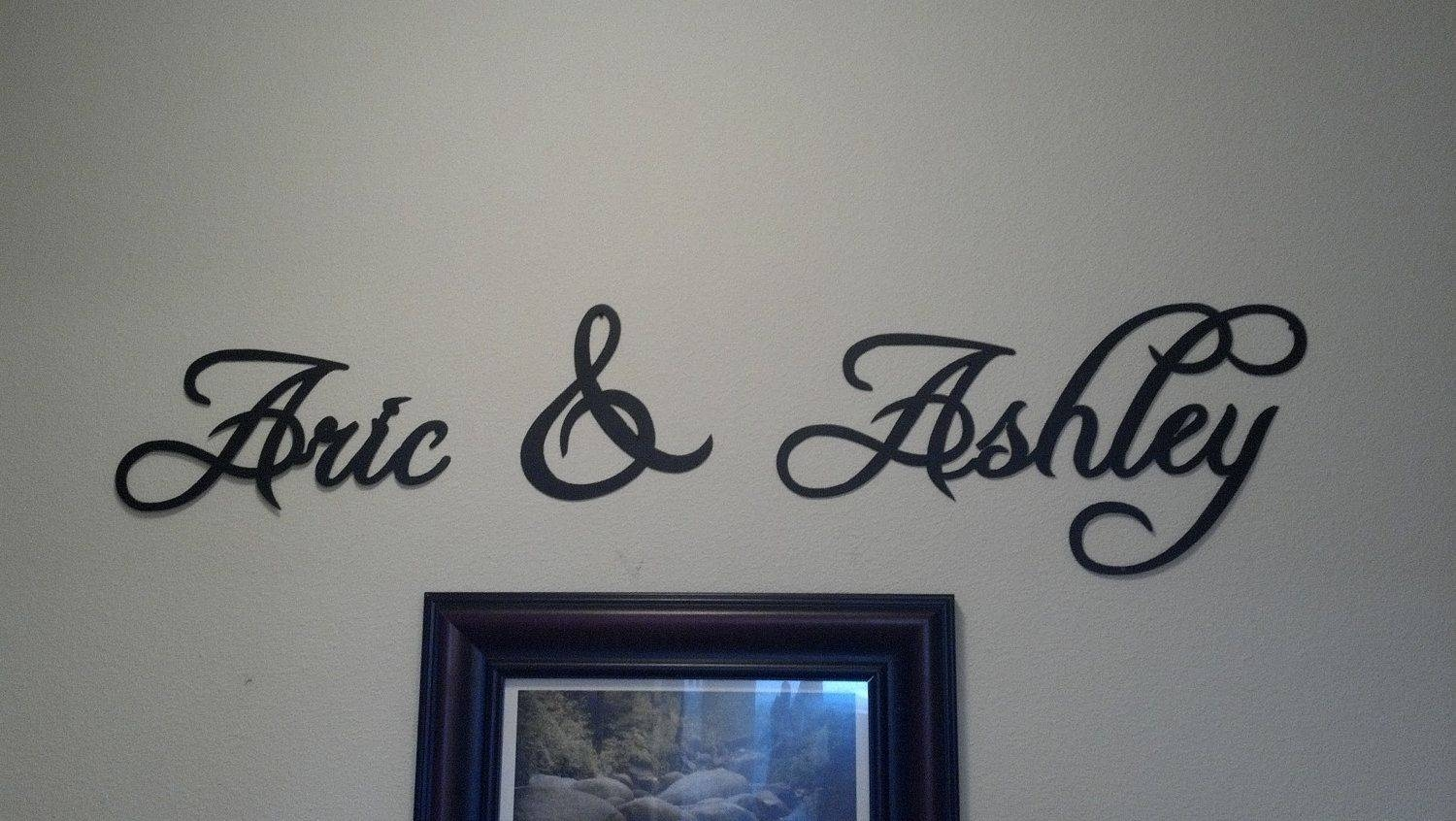 Hand Crafted Custom Words And Phrases Metal Wall Artworksay It Within Most Popular Metal Wall Art Words (View 6 of 20)