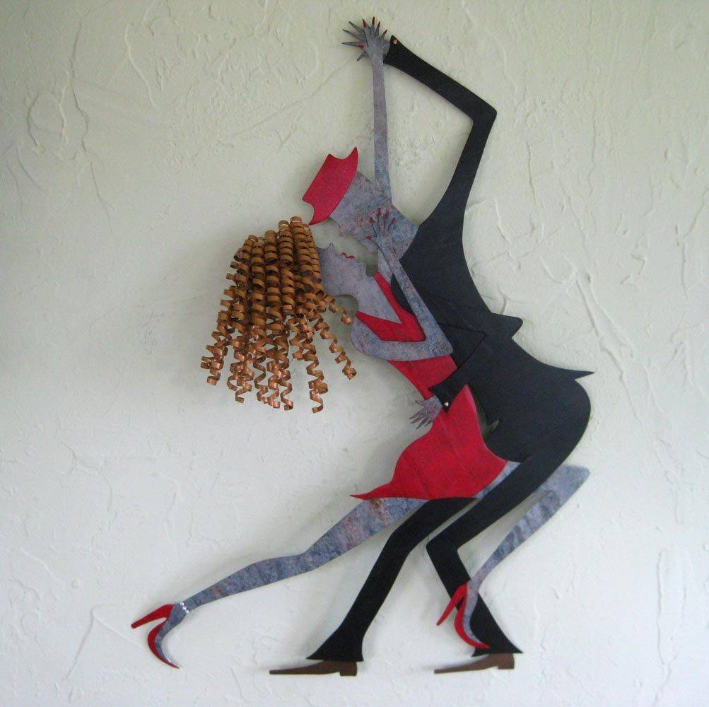 Featured Photo of Metal Wall Art Dancers