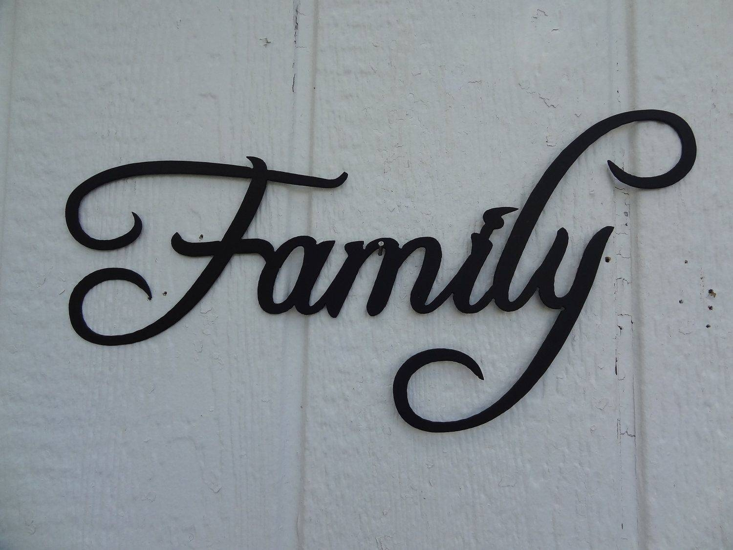 Hand Made Family Word Decorative Metal Wall Art Home Decorsay With Regard To Recent Metal Wall Art Words (View 19 of 20)