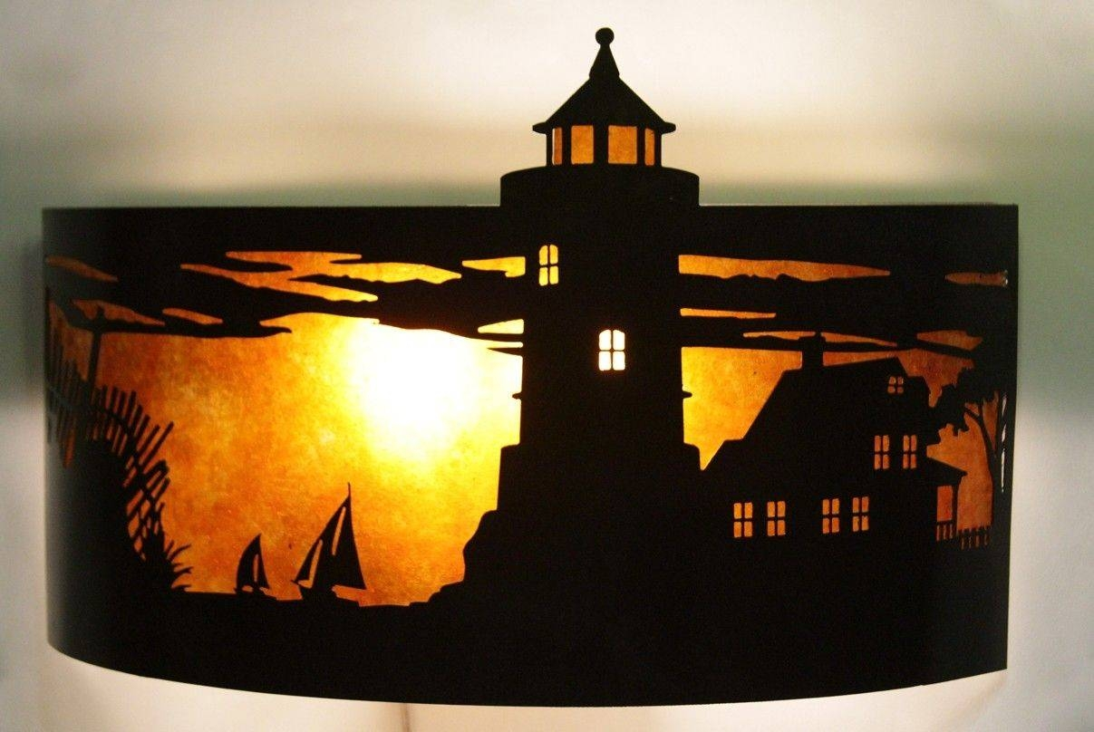 Hand Made Lighthouse Sconcesoman Metal Works | Custommade Throughout Most Up To Date Lighthouse Metal Wall Art (Gallery 4 of 20)