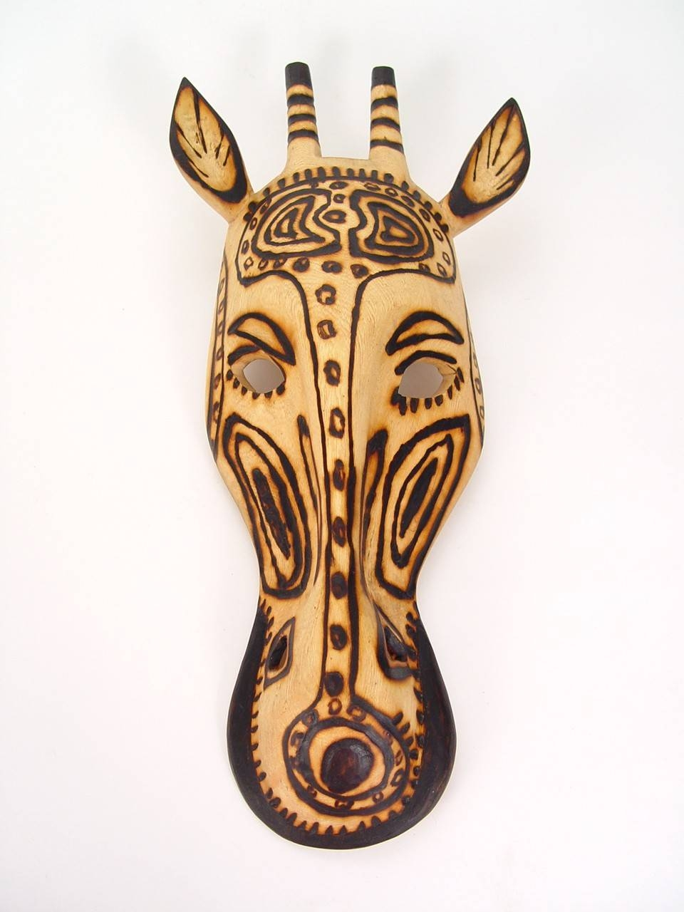 Handmade Wall Masks| Metal Wall Art | Wooden Giraffe Mask For Current Giraffe Metal Wall Art (View 11 of 20)