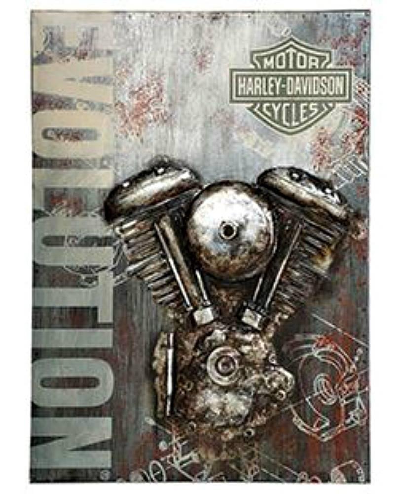 Harley Davidson® Evolution Motorcycle Metal Wall Art | 3 D Graphic For 2018 Motorcycle Metal Wall Art (View 4 of 20)