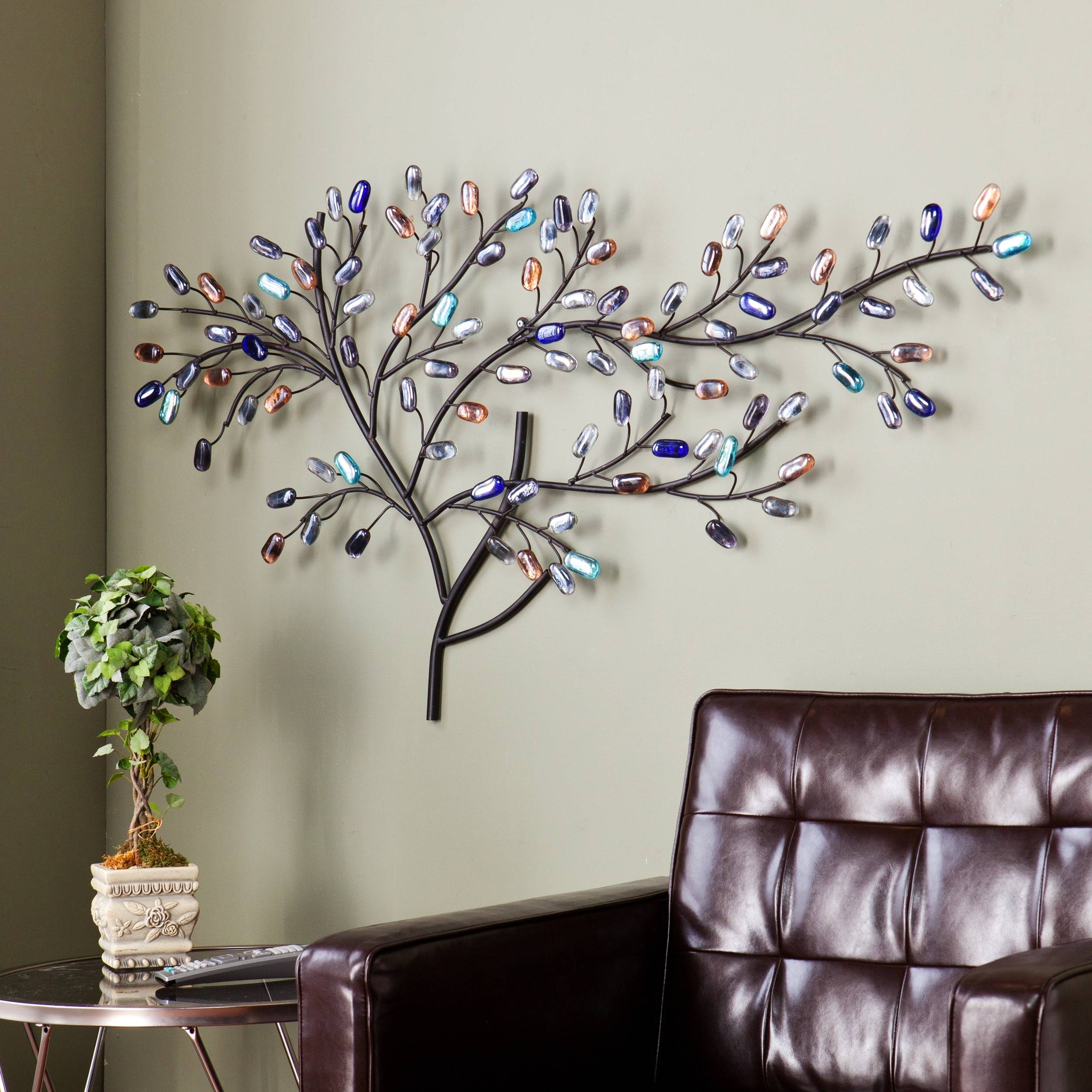 Harper Blvd Willow Multicolor Metal/ Glass Tree Wall Sculpture With Regard To Most Up To Date Multi Color Metal Wall Art (Gallery 7 of 20)