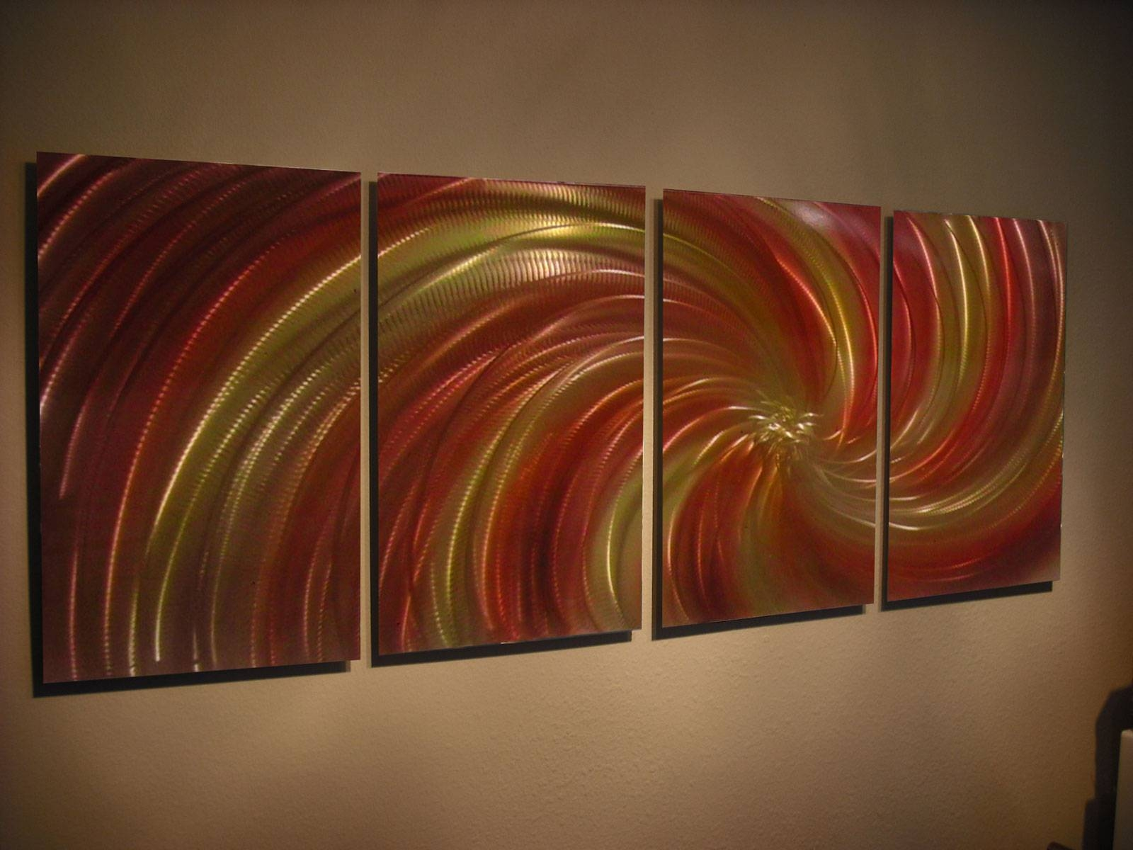 Harvest – Abstract Metal Wall Art Contemporary Modern Decor Within Most Recent Orange Metal Wall Art (View 8 of 20)