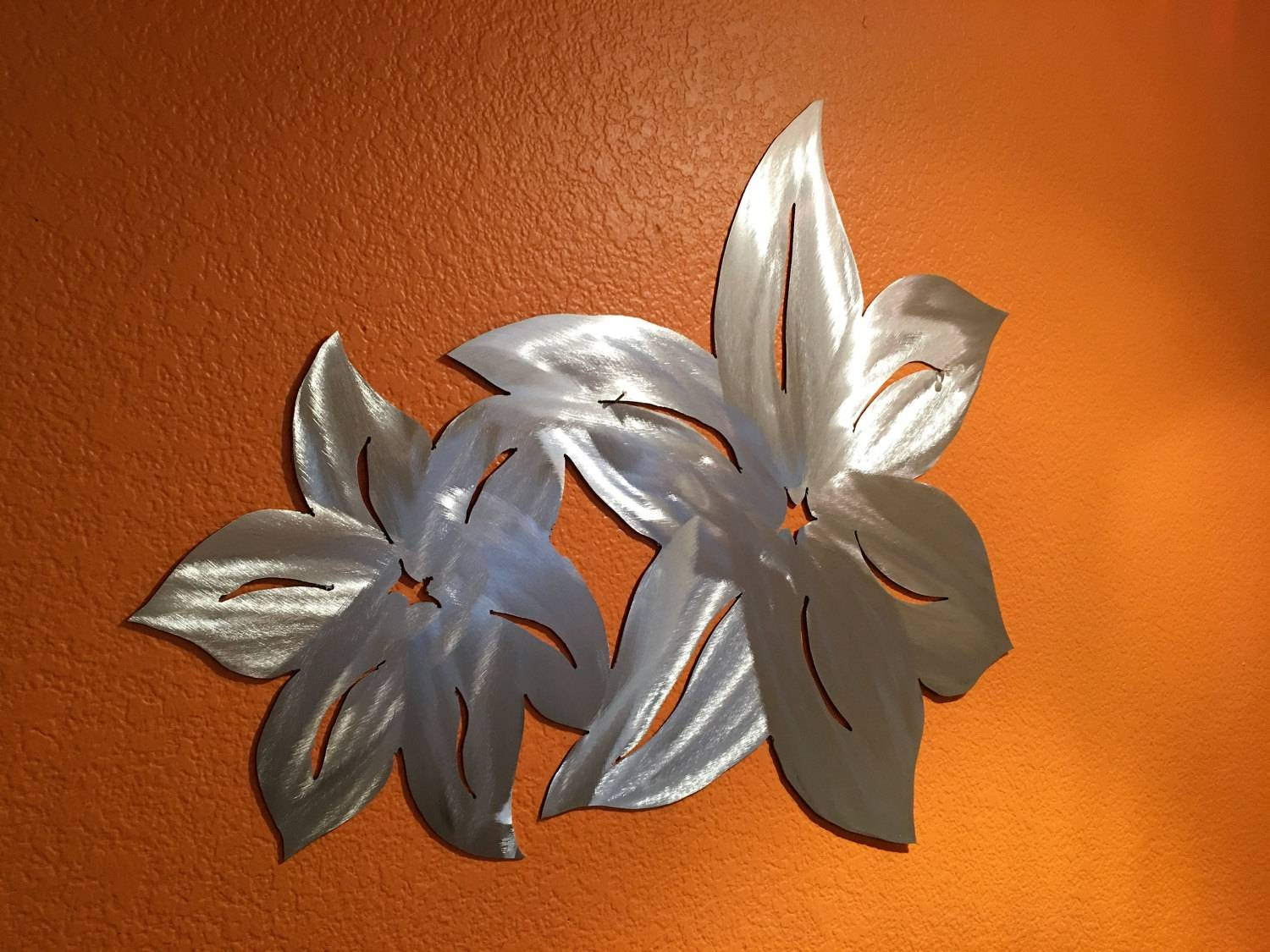 Hawaiian Flower Metal Wall Art. Flower From Hawaii (View 1 of 20)