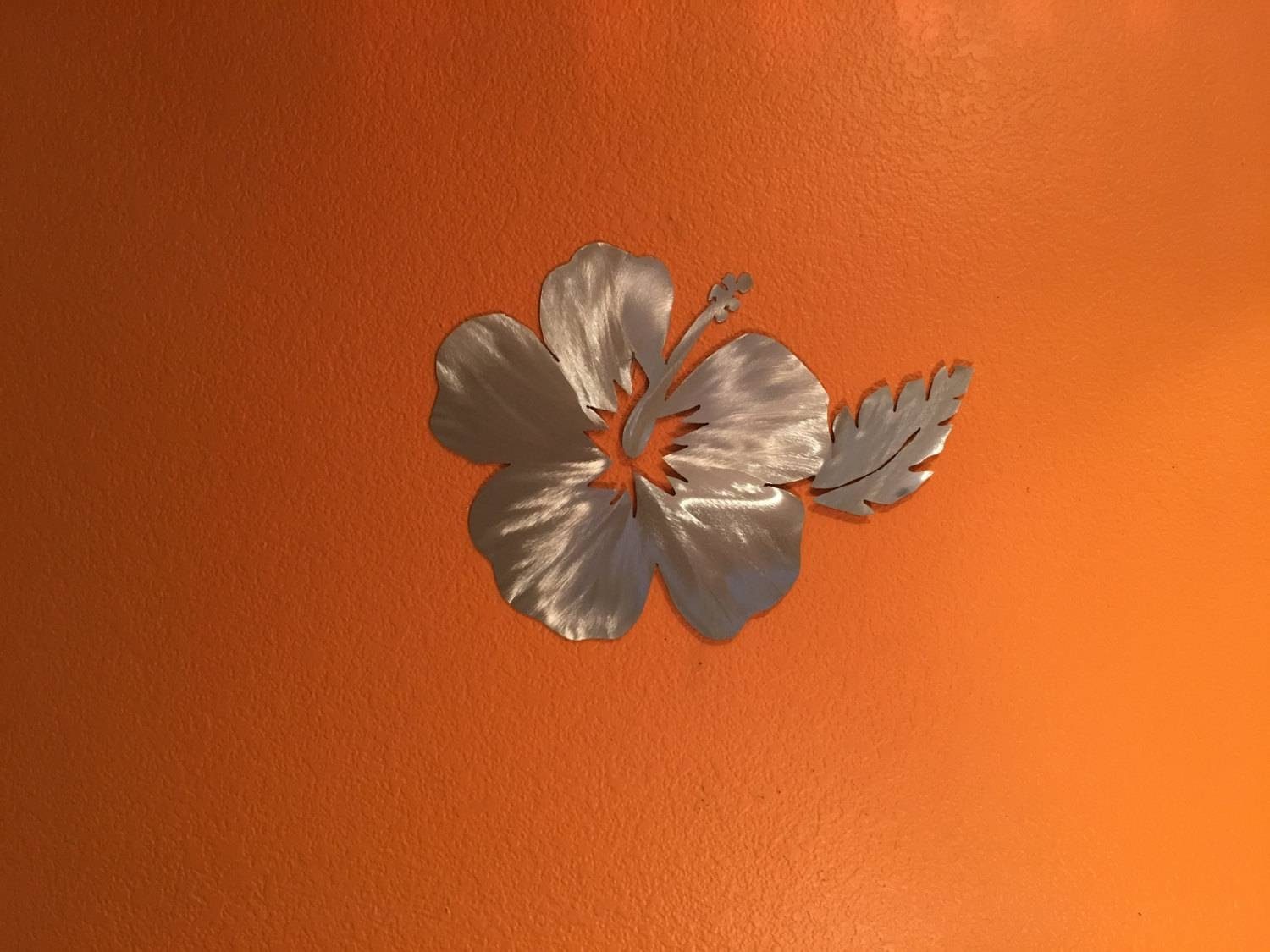 Hawaiian Flower Metal Wall Art. Hibiscus Flower From Hawaii (View 2 of 20)
