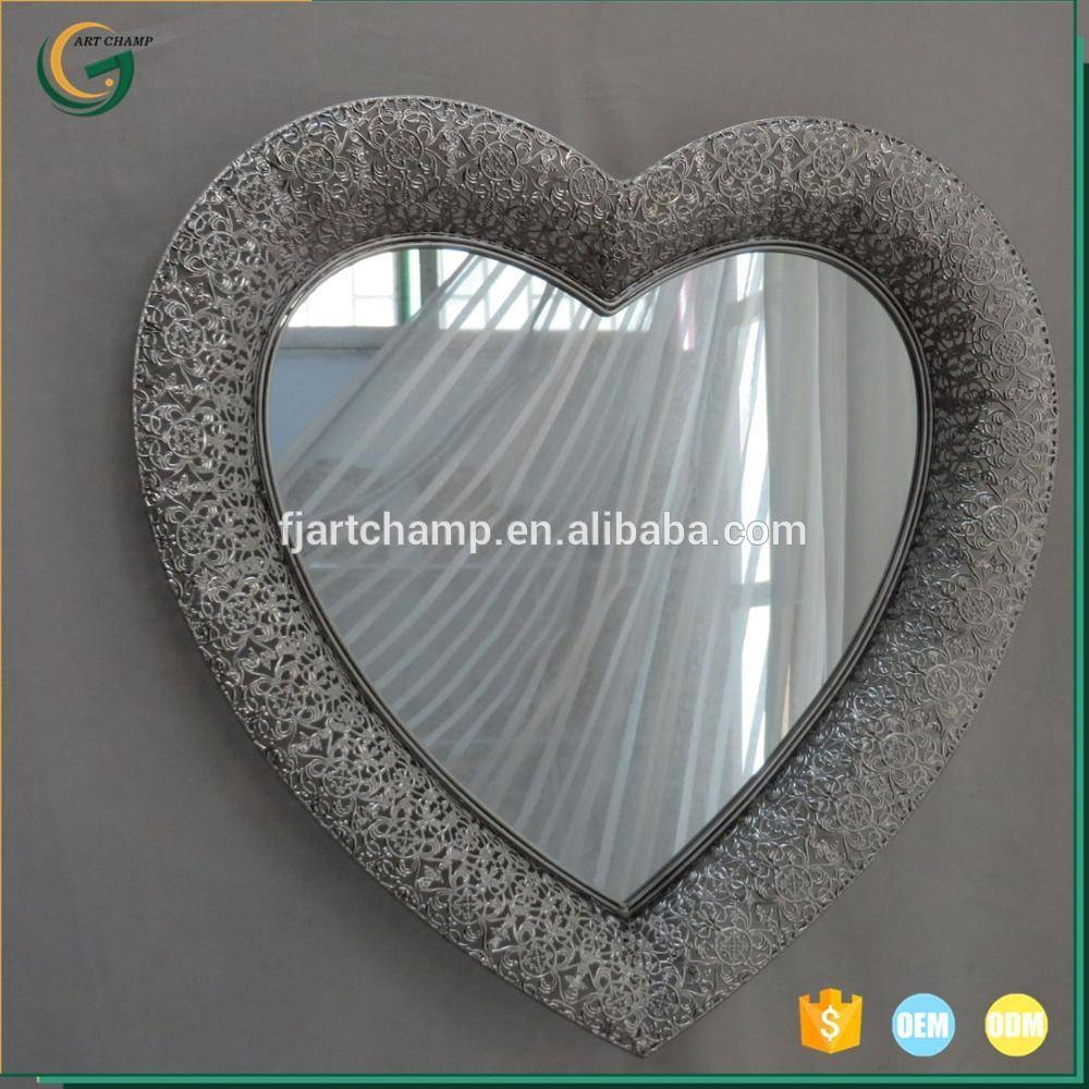 Heart Shaped Metal Wall Art Mirror Home Decoration – Buy Metal Pertaining To Newest Heart Shaped Metal Wall Art (View 2 of 20)
