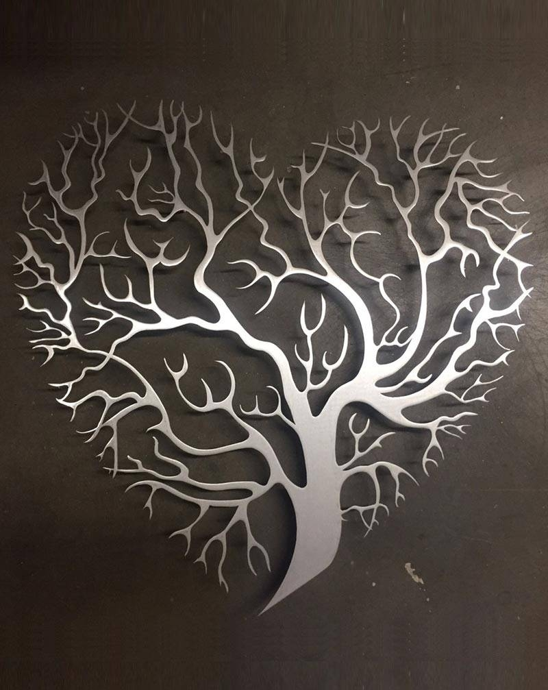 Heart Shaped Tree Metal Wall Art – Inspire Metals With Regard To Recent Heart Shaped Metal Wall Art (View 2 of 20)