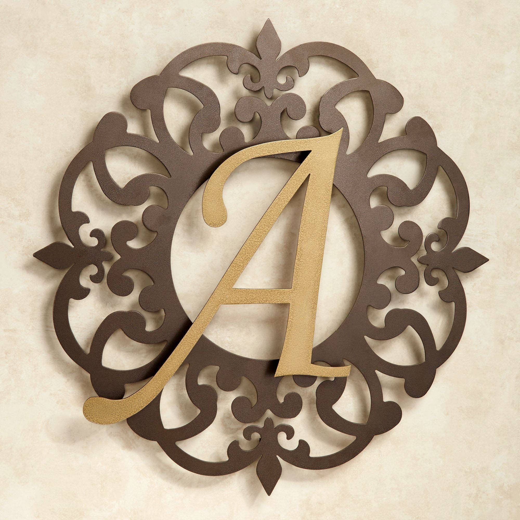 Heritage Monogram Metal Wall Art Signjasonw Studios In 2017 Monogram Metal Wall Art (View 12 of 20)