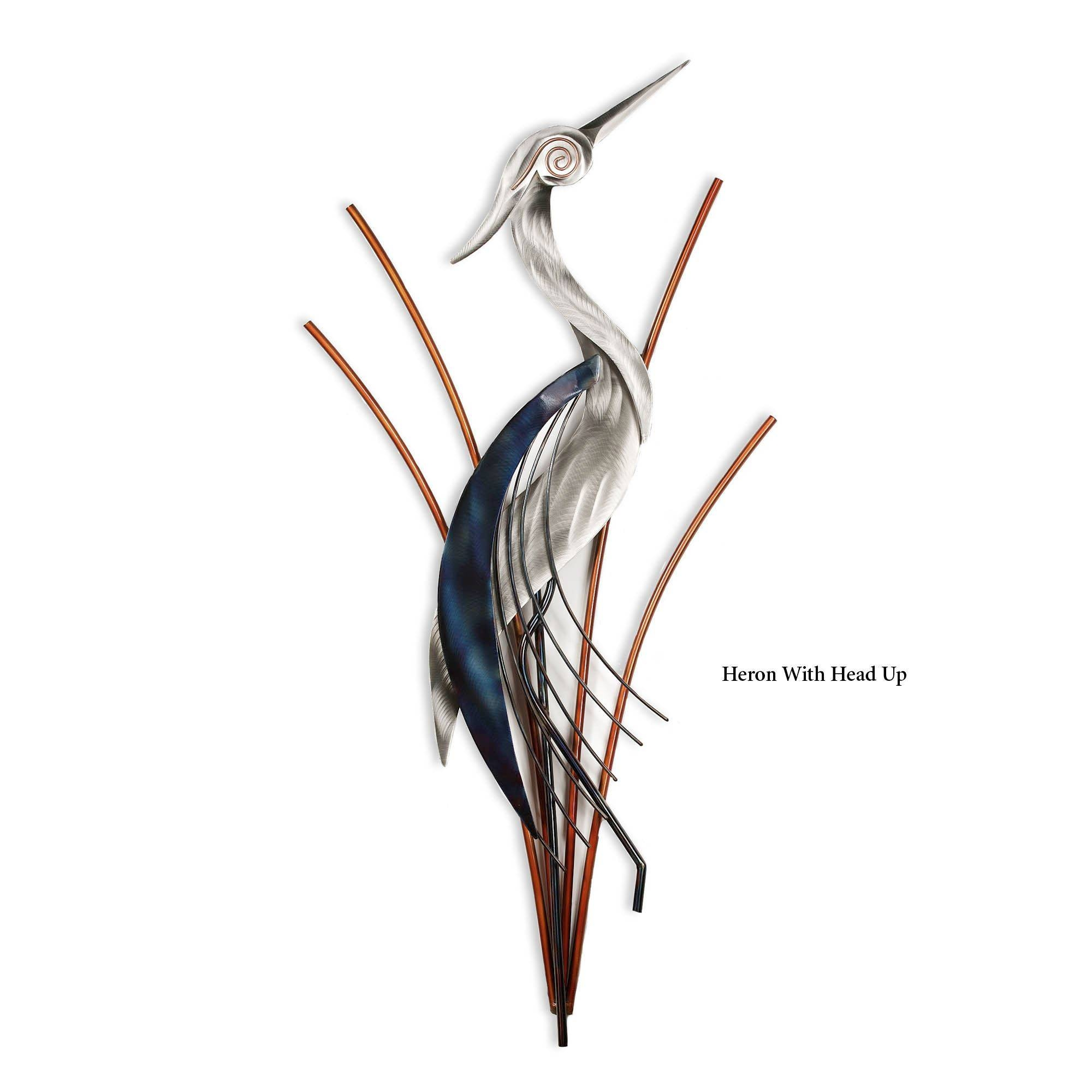 Heron Metal Wall Sculptures For Most Recently Released Art View 10 Of
