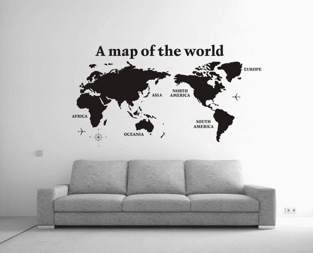 High Quality 2014 New Large 80X138Cm Cool A Map Of The World Wall In Most Recently Released Cool Map Wall Art (Gallery 1 of 20)