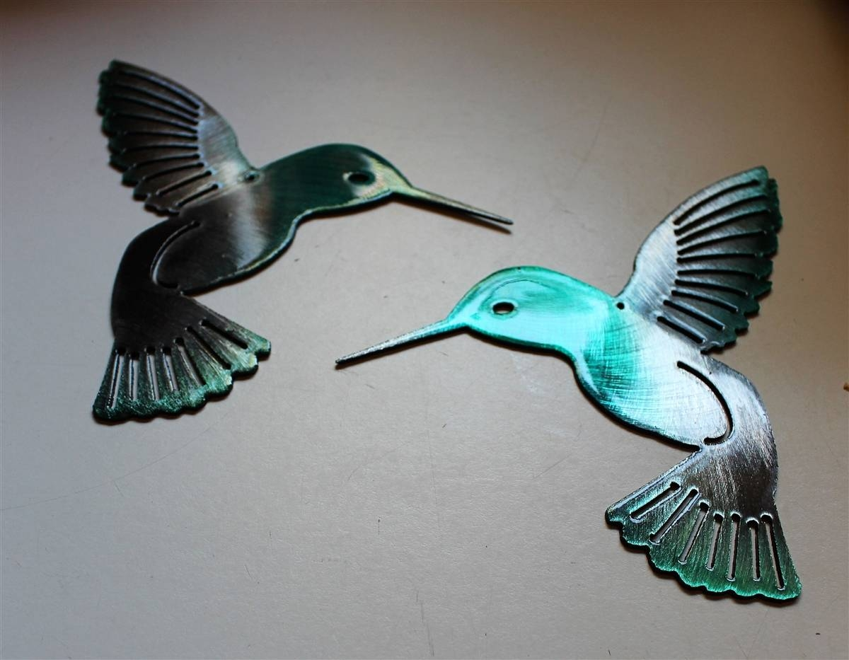 Hmbrdtl2 2 Intended For Most Recently Released Hummingbird Metal Wall Art (Gallery 3 of 20)