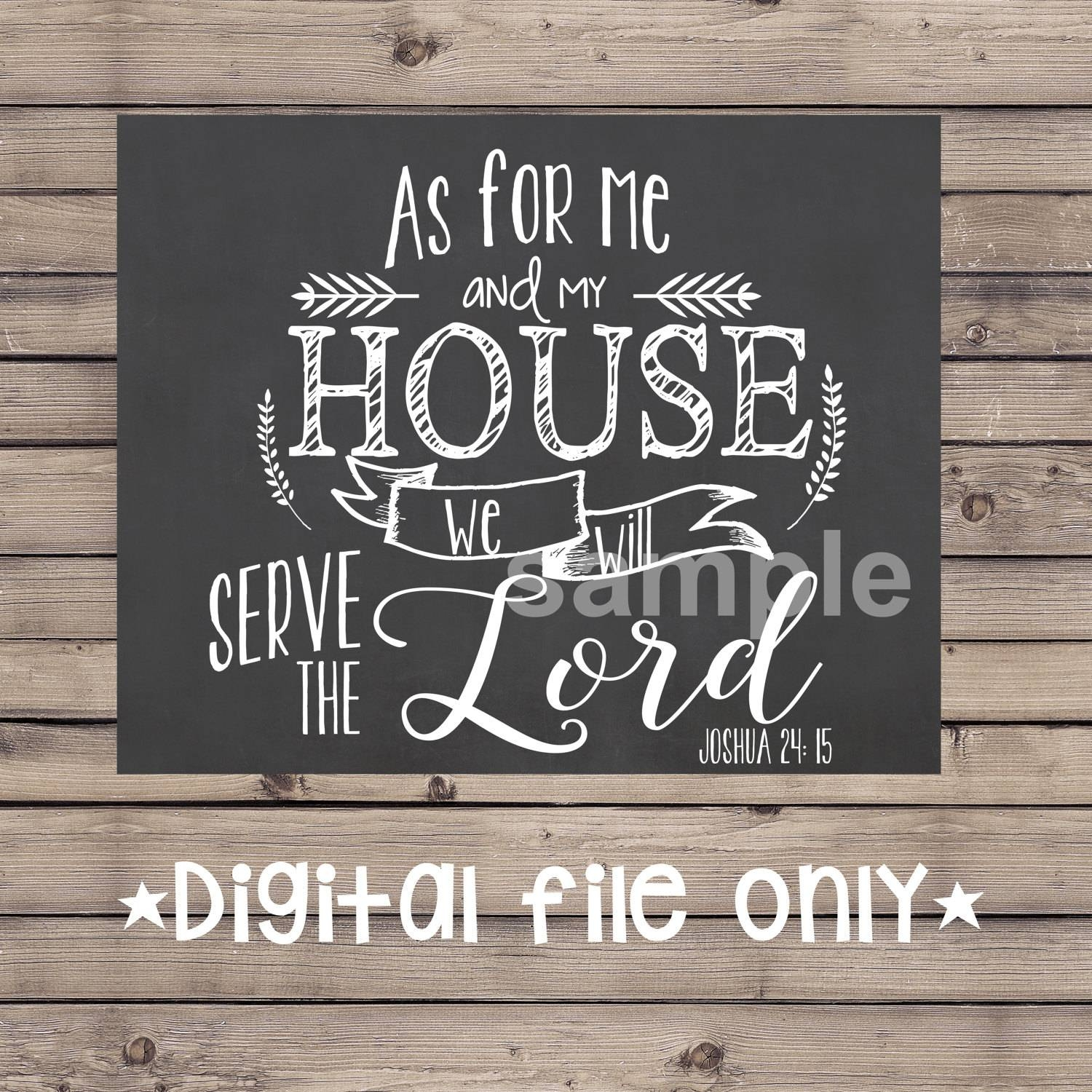 Home Decor/wall Art – Letsgetchalky With Regard To Latest As For Me And My House Metal Wall Art (View 4 of 20)