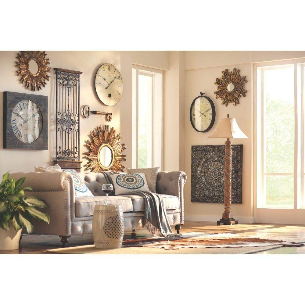 Home Decorators Collection Amaryllis 36 In. Square Metal Wall Intended For Most Recent Square Metal Wall Art (Gallery 20 of 20)