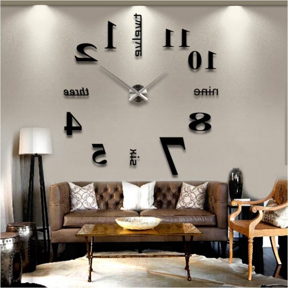 Home Design : 93 Amazing Large Metal Wall Clocks Intended For Newest Large Metal Wall Art Clocks (View 8 of 20)