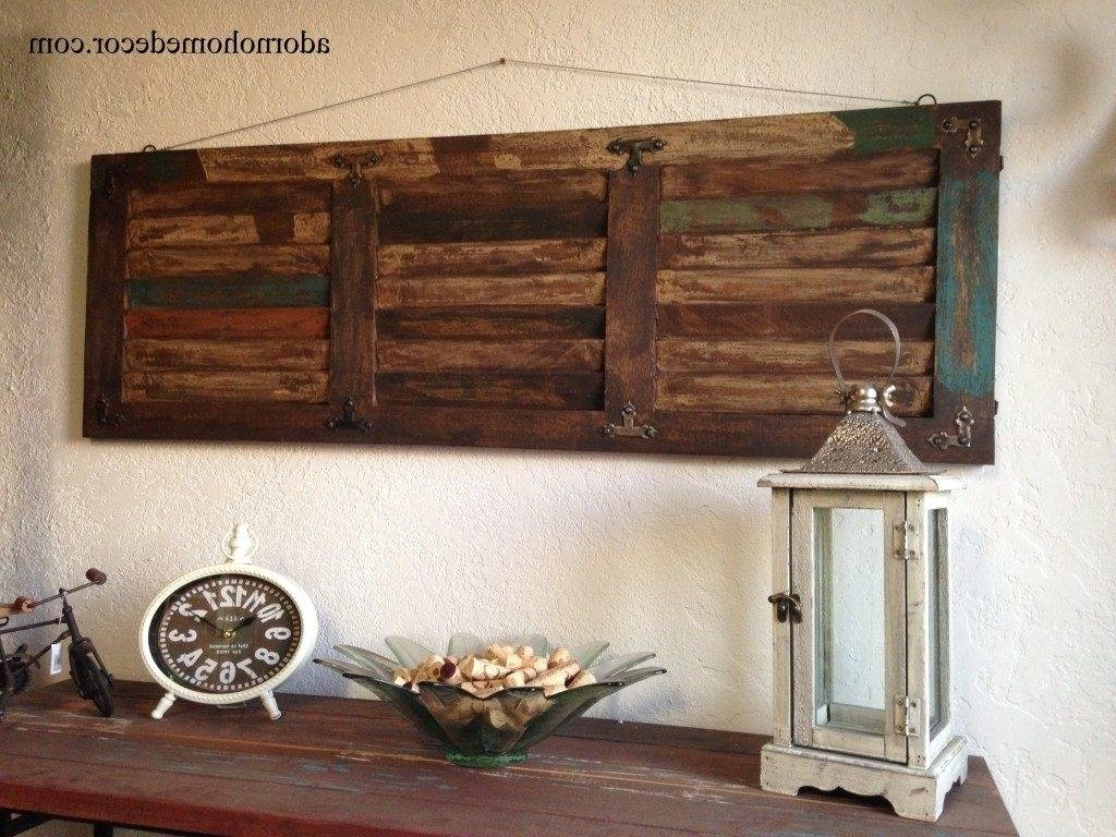 Home Design : Superb Large Iron Wall Decor 7 Rustic Wood Art Metal Pertaining To Recent Rustic Metal Wall Art (View 9 of 20)