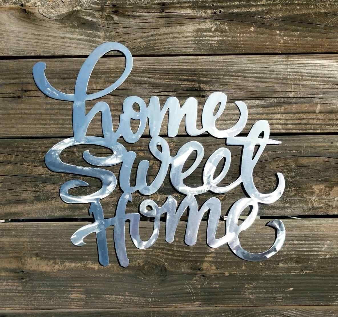 Home Sweet Home Metal Wall Art | Home Interior Decor Regarding Latest Home Sweet Home Metal Wall Art (View 3 of 20)