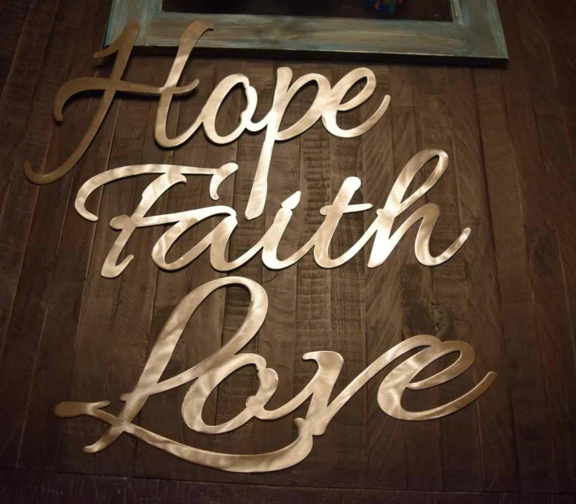 Hope Faith Hope Love Metal Wall Art Faith Love Metal Sign Cnc Pertaining To Most Popular Faith Hope Love Metal Wall Art (Gallery 5 of 20)