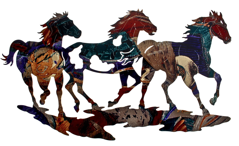 Horse Wall Art, Ponies Wall Hangings, Metal Wall Art Hangings Inside 2017 Horse Metal Wall Art (View 7 of 20)