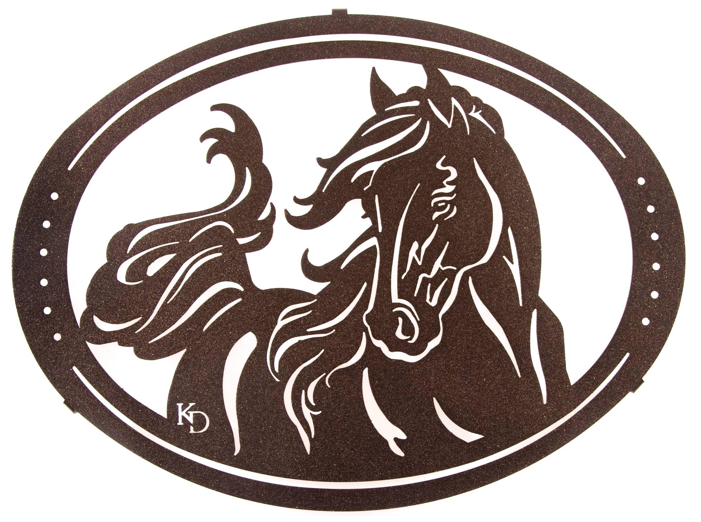 Horse Wall Art, Ponies Wall Hangings, Metal Wall Art Hangings With Recent Horse Metal Wall Art (View 8 of 20)