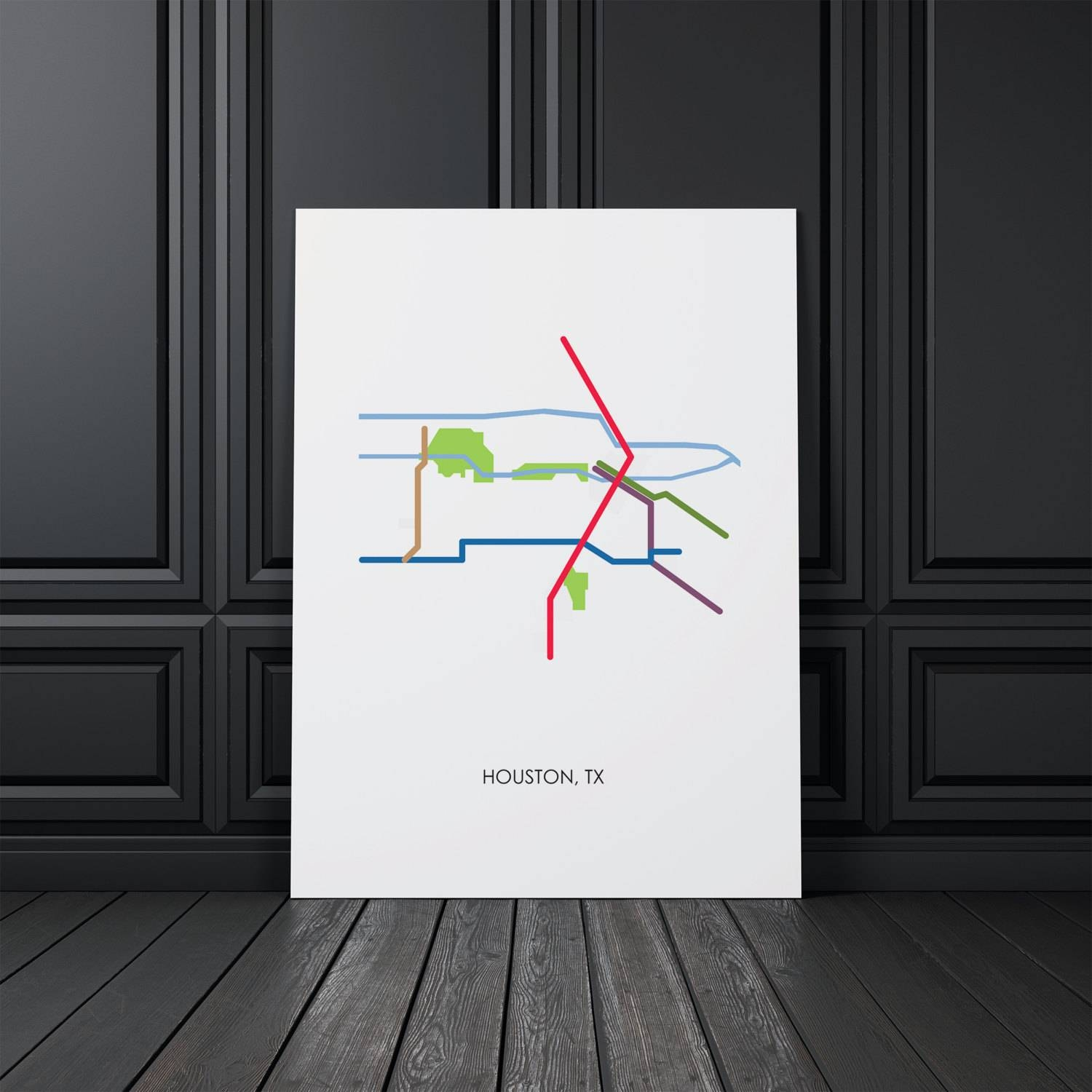 Houston Wall Art Houston Map Houston Tx Wall Art Map Art Within 2018 Houston Map Wall Art (Gallery 12 of 20)