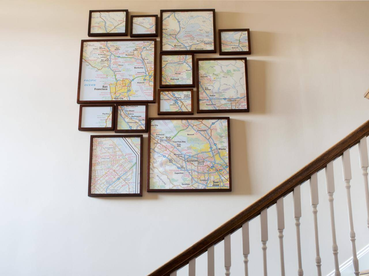 How To Create Fractured, Framed Map Art | Hgtv Within Newest Map Wall Artwork (Gallery 9 of 20)