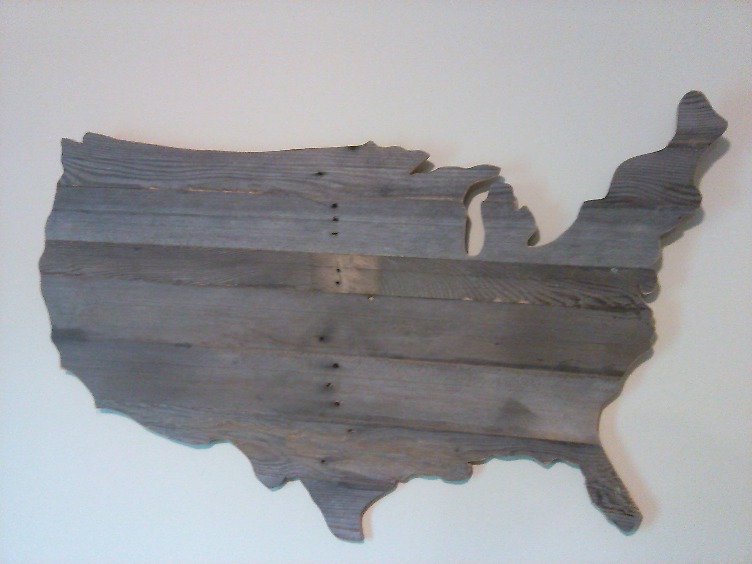 How To Make A Wooden Usa Map Wall Art Out Of Pallets – Youtube Throughout Best And Newest Usa Map Wall Art (View 3 of 20)