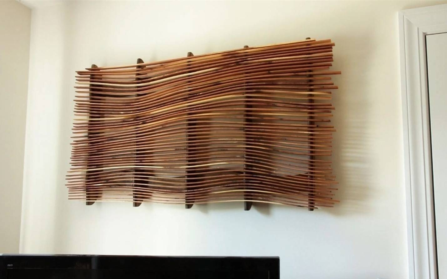 How To Make Wall Art From Scrap Wood | Diy Project | Cut The Wood Throughout Most Recently Released Scrap Metal Wall Art (View 6 of 20)