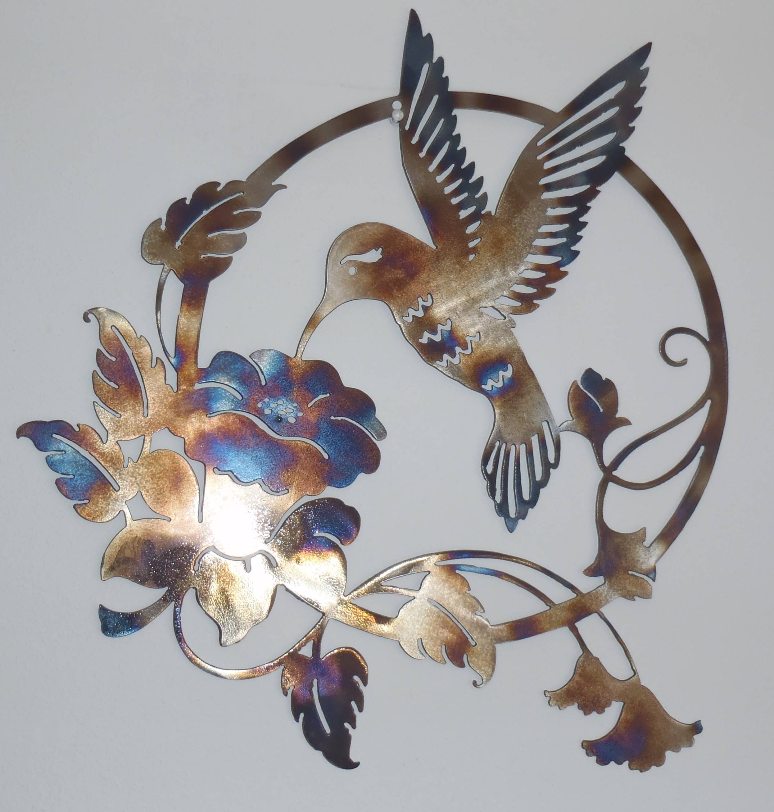 Hummingbird Decor | Iron Blog Inside Most Up To Date Flower Metal Wall Art Decor (View 17 of 20)
