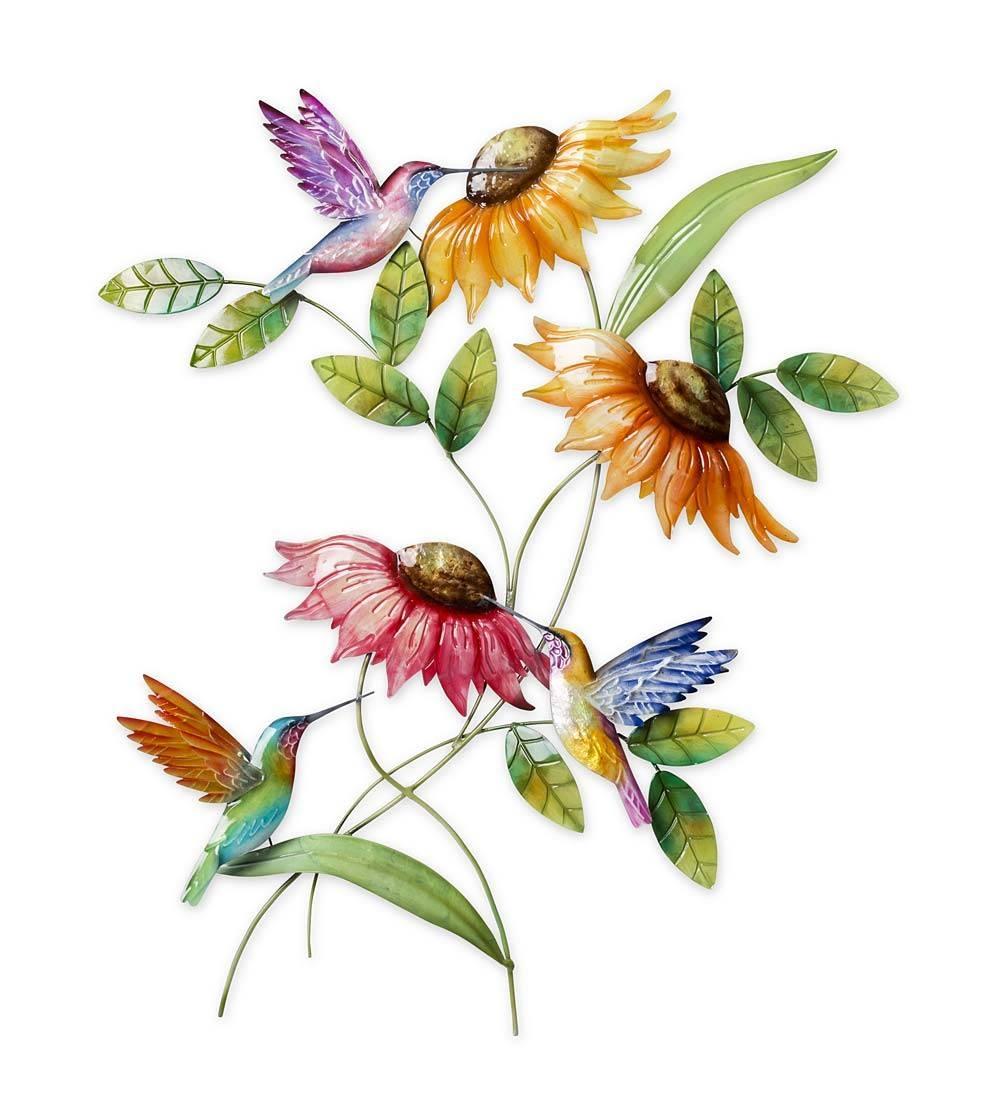 Hummingbird & Sunflower Metal Wall Art | Wind & Weather Throughout 2018 Hummingbird Metal Wall Art (View 9 of 20)