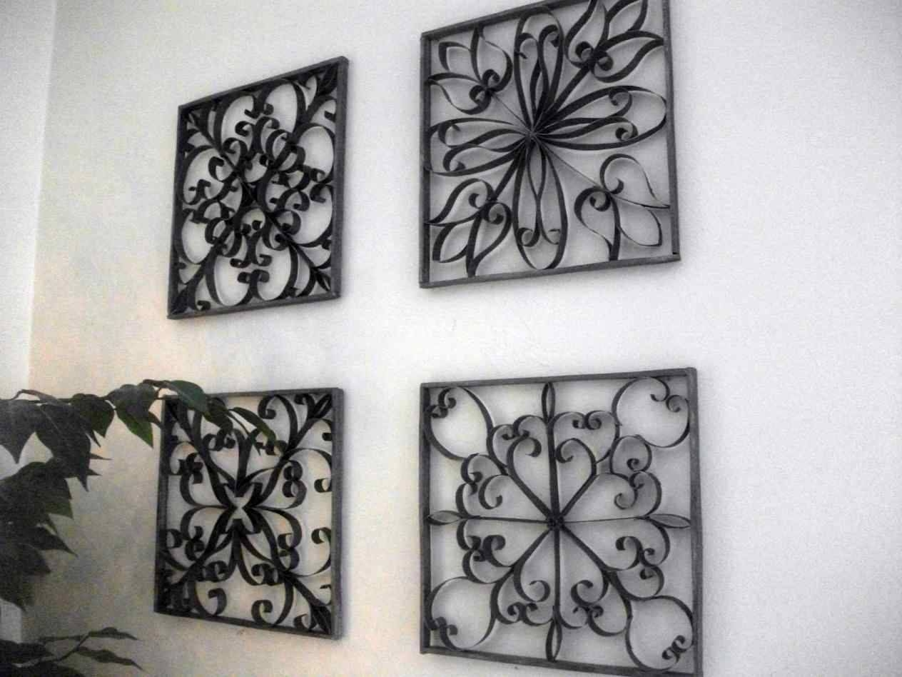 Ideas Floral Diy Faux Metal Wall Art Bathroom Wall Decor Pinterest With Latest Faux Metal Wall Art (View 10 of 20)