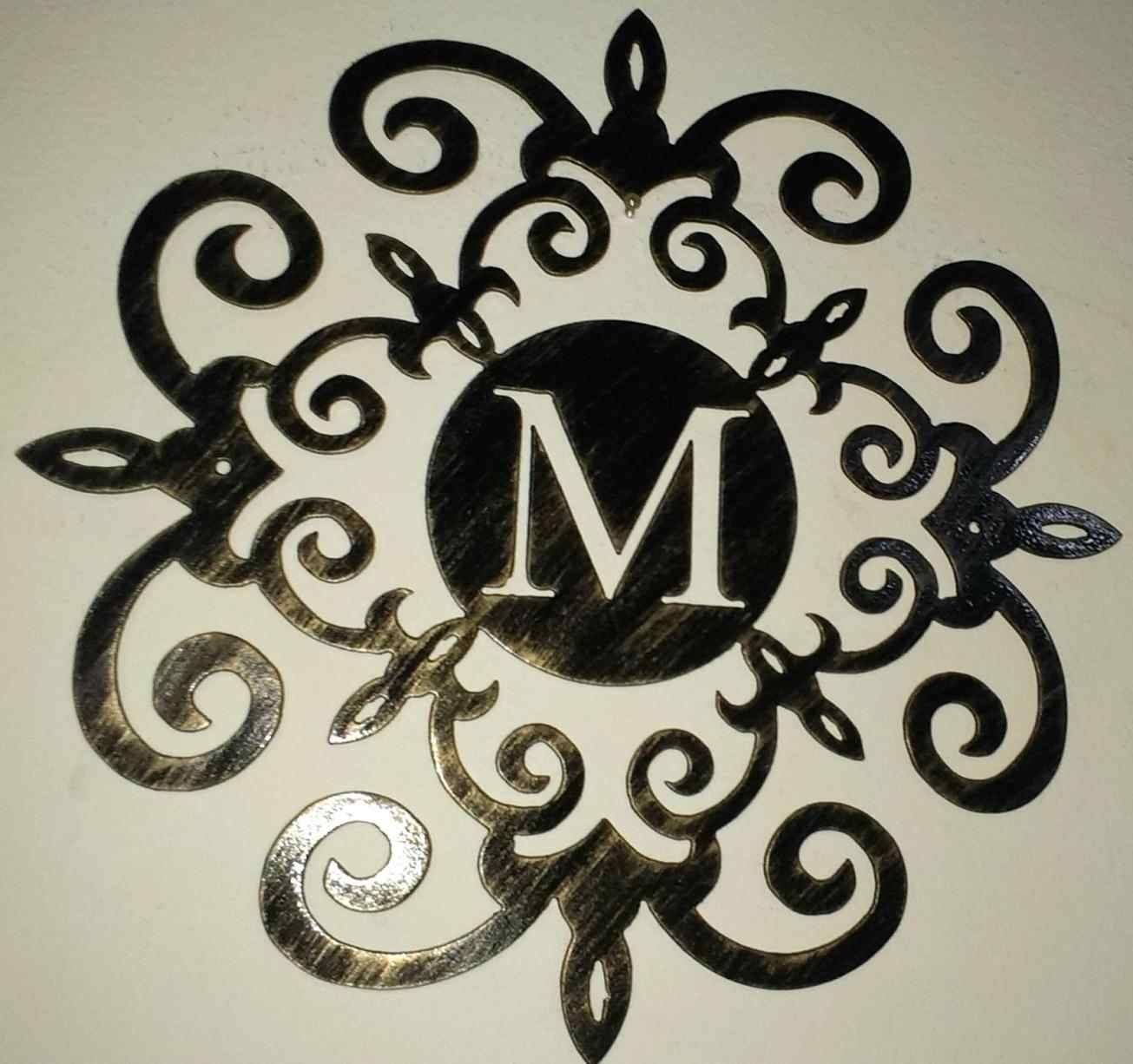 Ideas Iron Scroll Metal Wire Medallion Hanging Art White Wall Regarding Most Popular Pottery Barn Metal Wall Art (View 5 of 20)