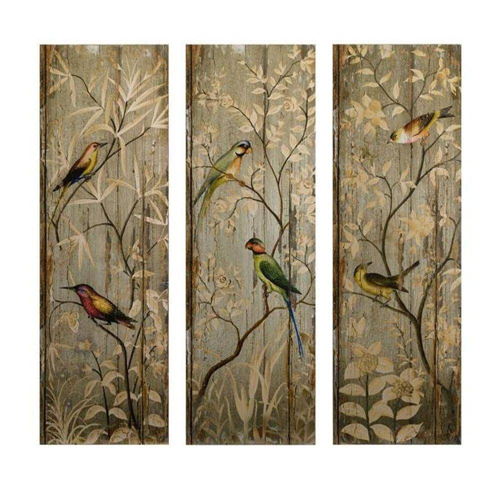 Imax 42 In. H Calima Bird Wall Decor (Set Of 3) 27626 3 – The Home With Regard To Latest Bird Metal Wall Art (Gallery 19 of 20)