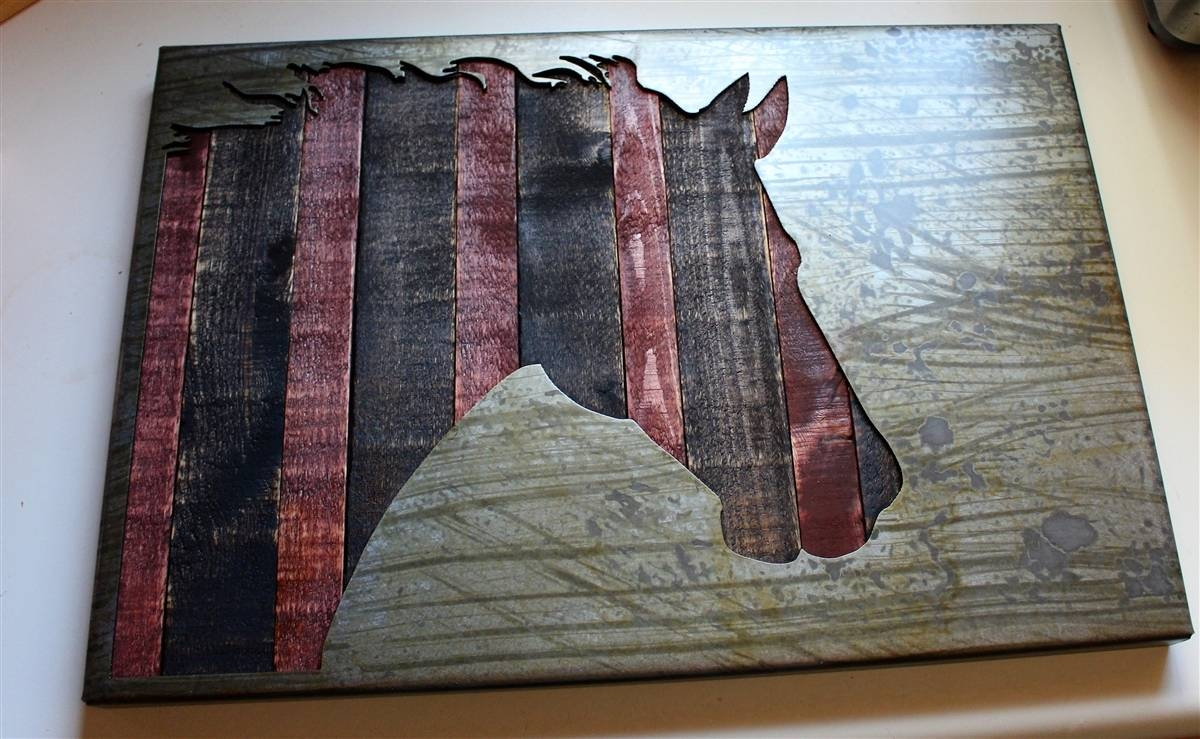 Industrialhorse 2 Intended For Most Up To Date Industrial Metal Wall Art (View 10 of 20)
