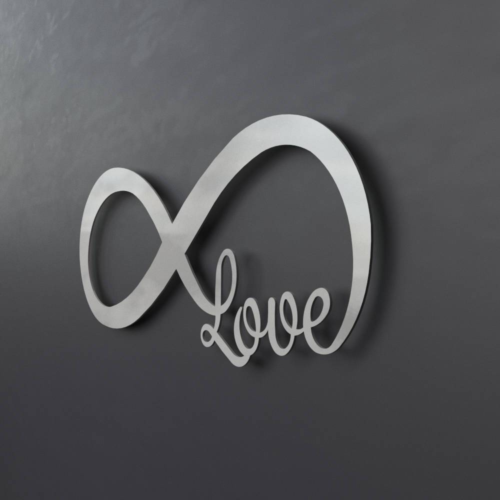 Infinity Symbol Metal Wall Art Love Metal Wall Art Love With Regard To Most Recent Love Metal Wall Art (View 3 of 20)