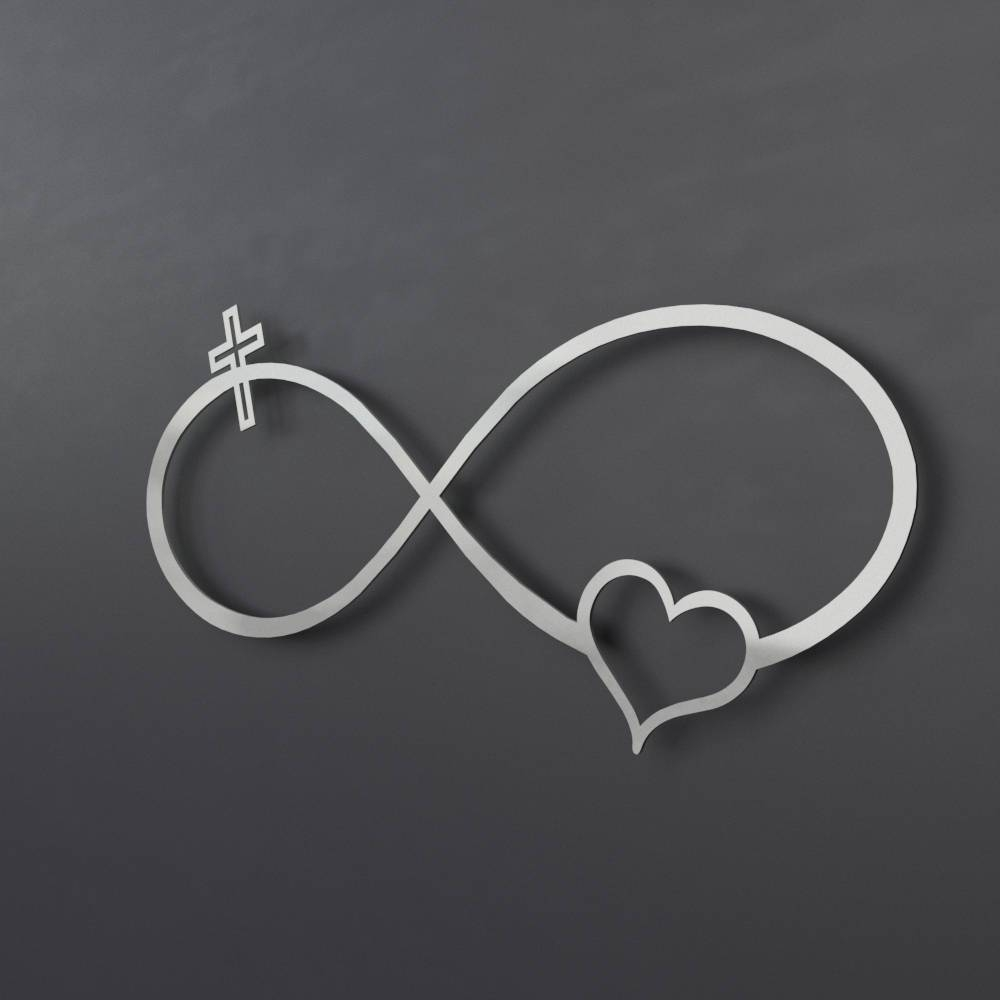 Infinity Symbol Metal Wall Art Metal Wall Cross Heart Regarding Newest Christian Metal Wall Art (View 13 of 20)