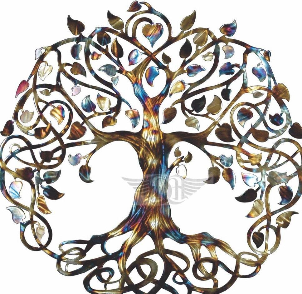 Infinity Tree Tree Of Life Metal Wall Art Metal Tree Art Intended For Latest Tree Of Life Metal Wall Art (View 5 of 20)