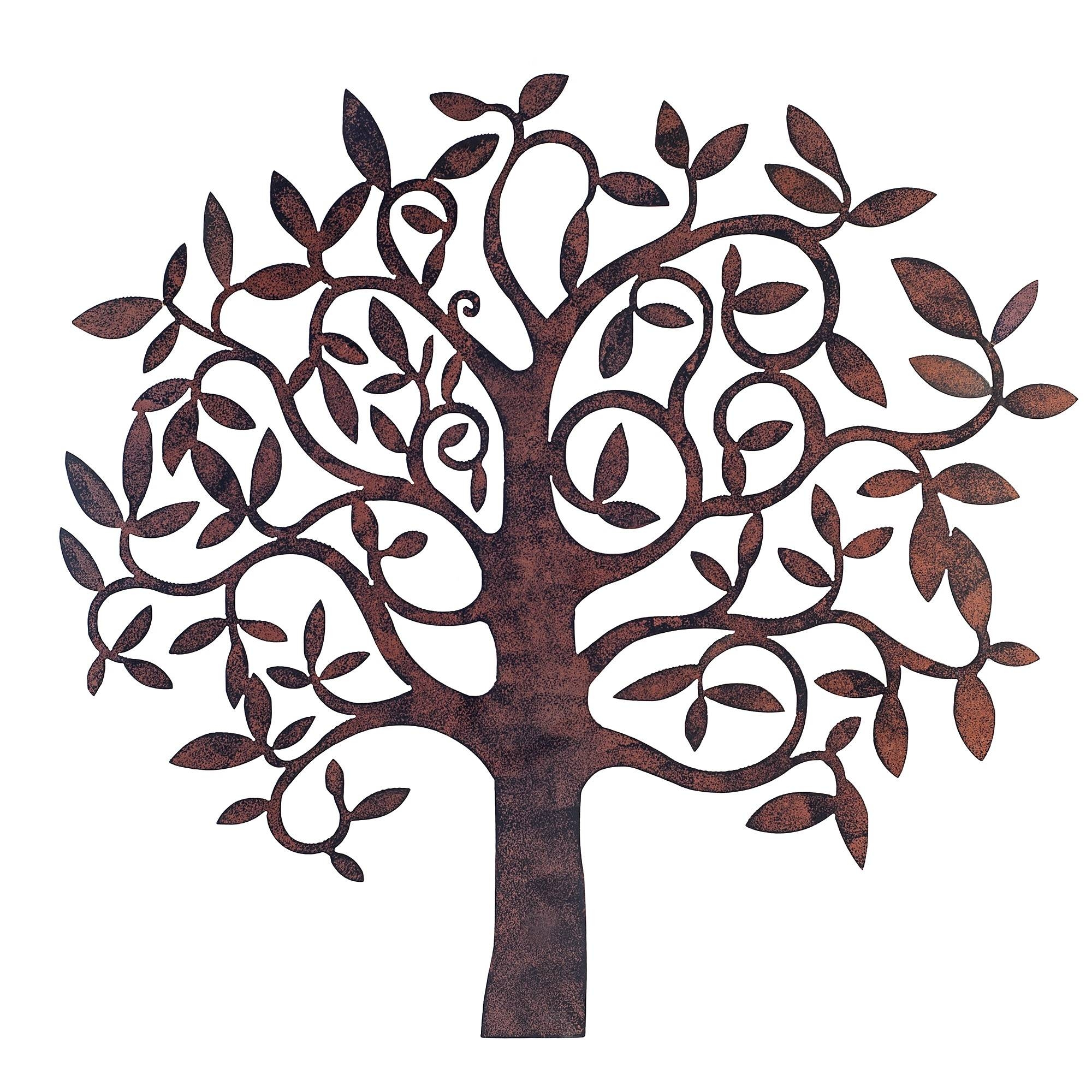 Innovative Large Metal Tree Wall Decoration 128 Oak Tree Large In 2017 Outdoor Large Metal Wall Art (Gallery 11 of 20)